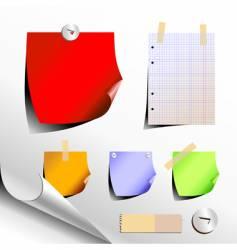Paper elements vector