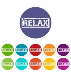 Relax flat icon vector