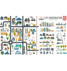 City map generator city map example elements for vector