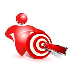 Social target icon vector