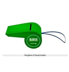 A whistle of kingdom of saudi arabia vector