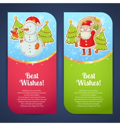 Christmas greeting postcards vector