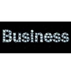 Diamond word business vector