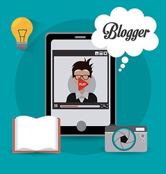 Blogger digital design vector