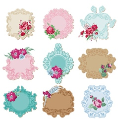 Scrapbook design elements - vintage tags vector