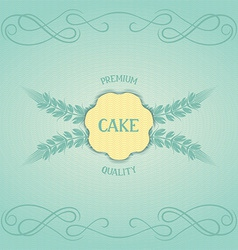 Vintage design for confectionery vector