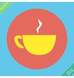 Cup mug of hot drink coffee tea vector