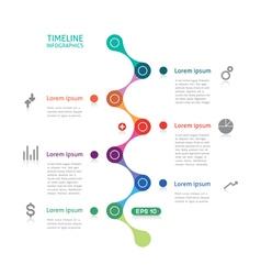 Timeline infographics broken line vector