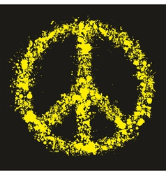 Grunge peace symbol - pacific vector