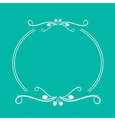 Calligraphic round frame 3 abstract design element vector