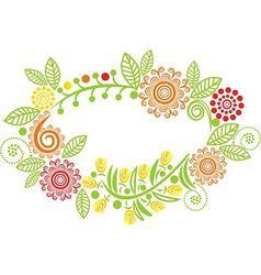 Floral pattern frame vector