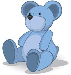 Blue teddy bear vector
