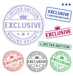 Exclusive stamp vector