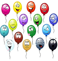 Colorful balloons cartoon vector
