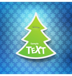 Christmas symbol tag vector