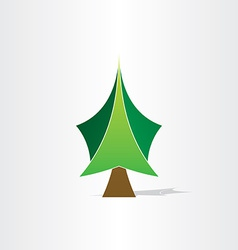 Green christmas tree icon design vector
