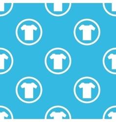 T-shirt sign blue pattern vector