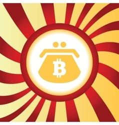 Bitcoin purse abstract icon vector