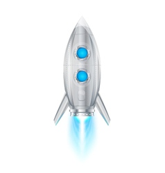 Rocket space ship vector