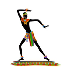Ethnic dance african man vector