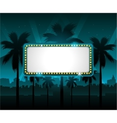 Casino banner with city lights in background vector