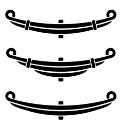 Vehicle leaf spring black symbols vector