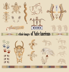 Ethnic images of native americans vector