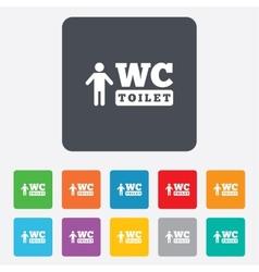 Wc men toilet sign icon restroom symbol vector