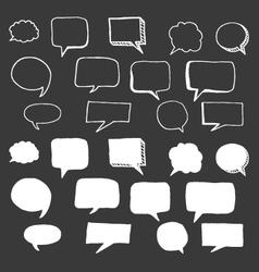 Hand drawn speech bubbles doodle vector