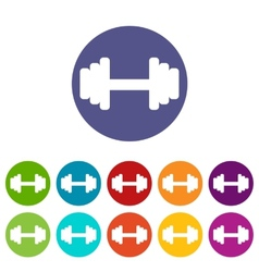 Barbell flat icon vector