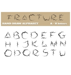 Fracture alphabet part one vector