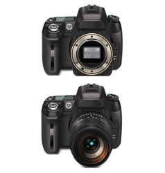 slr camera xxl icon vector
