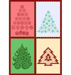 Collection of christmas trees 02 vector