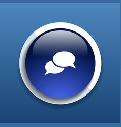 Speech bubbles sign chat icon symbol vector