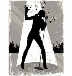 Grunge singer vector
