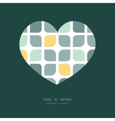 Abstract gray yellow rounded squares heart vector