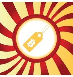 Bitcoin price abstract icon vector