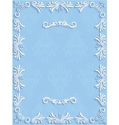 Blue vintage background with floral vector