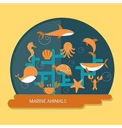 Ocean conservation vector