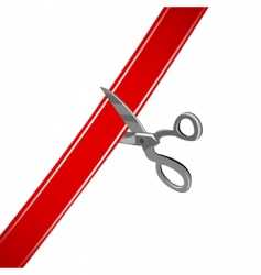 Cutting ribbon vector