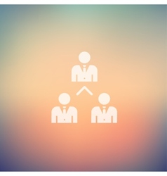 Three business people in flat style icon vector