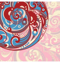 Abstract bright background with spiral vector