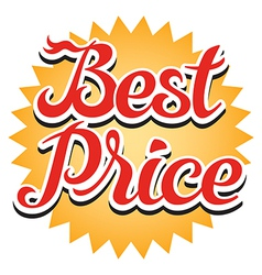 Best price sticker vector