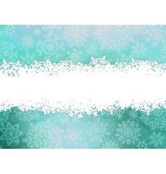 Winter background with snowflakes eps 10 vector