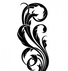 Floral curve vector