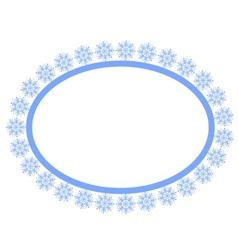 Snowflakes frame vector