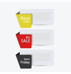 Modern sale banners set vector