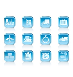 Shipping and transportation icons vector