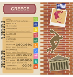 Greece infographics statistical data sights vector
