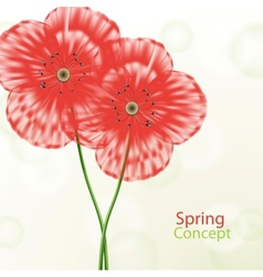 Spring floral concept vector